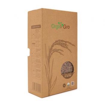 Gạo hữu cơ lứt thảo dược OrgaGro túi 1kg